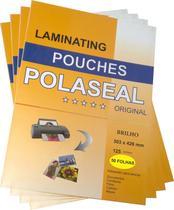 200 Plásticos para Plastificação Polaseal Tamanhos RG  A4  A3 - Mbset