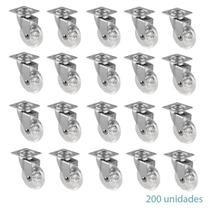 200 Rodizio Giratório Gel Silicone Transparente 50mm S/Trava - Desicon