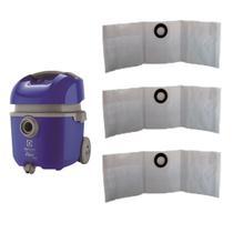 21 Sacos P/ Aspirador Electrolux Flex 1400   Flsc -