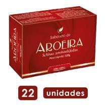 22x sabonete de aroeira com propriedades antissépticas ajuda no tratamento de espinhas na pele 100g - Arte Nativa