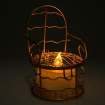 24 Lembrancinhas Mini Cadeirinha Aramado aniversários casamento Dourada 7317+vela - Eminencia
