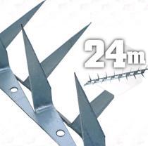 24m Lança para muro cerca espeto cortante farpada- 24 metros - JJ
