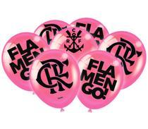 25 Bola Flamengo Rosa Decoração Festa Feminina - Festcolor