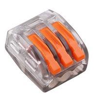 25x Conector Derivação Cristal Jack 3 Vias Tipo Wago 222-413 - Con Fio
