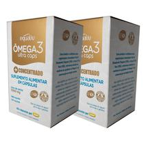 2un Omega 3 Ultra Caps - Óleo de Peixe com EPA e DHA Concentrados - 60 Cápsulas - Equaliv -