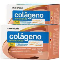 2x Colágeno Verisol Hidrolisado 2 em 1 (2x 30 sachês) - MaxiNutri -