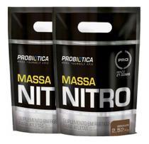 2x Hipercalórico Massa Nitro 2520kg (5040 kg) Morango Refil - Probiotica -