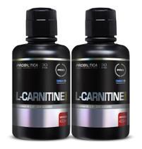 2x L carnitine 2000mg 400ml (800 ml) laranja Probiotica -