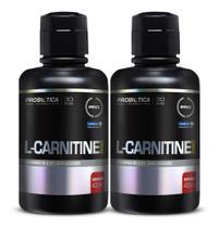 2x L carnitine 2000mg 400ml (800 ml) morango Probiotica -