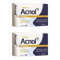 2x sabonete antiacne acnol com enxofre e ácido salicílico ideal reduzir oleosidade da pele 80g - Arte Nativa