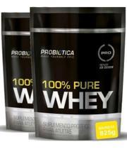 2x Whey 100% Pure Refil 825g (1650 kg) Baunilha Probiótica - Probiotica