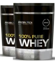 2x Whey 100% Pure Refil 825g (1650 kg) Chocolate Probiótica - Probiotica