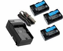 3 baterias LP-E6N + 1 Carregador para Canon para câmera digital e filmadora Canon EOS Digital 5D Mark II, EOS 60D, EOS Digital 7D -