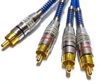 3 Cabos RCA Blindado 1 Metro p Módulo Amplificador Crossover - Tech One