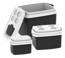 3 Caixa Térmica Cooler 32 L 12 L 5 Litros Combo - Soprano -