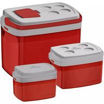 3 Caixa Térmica Cooler Combo De 32 12 5 Litros - Soprano -