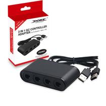 3 em 1 Game Cube Usb Adaptador Gamepad Converter Para Nintendo Switch / Wii U /PC Dobe tns-1864 -