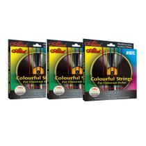 3 Encordoamentos Coloridos de Violão Nylon Alice A107C cordas de nylon coloridas -