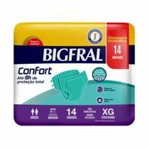 3 Fraldas Adulto Descartável Bigfral Confort Xg 14unid. -