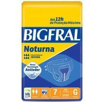 3 Fraldas Adulto Descartável Bigfral Noturna Plus G 7unid. -