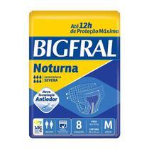 3 Fraldas Adulto Descartável Bigfral Noturna Plus M 8unid. -