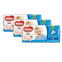 3 Fraldas Infantil Descartável  Monica Huggies Tripla Proteção  Mega G 36unid. - Kimberly