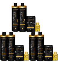3 Kit Plástica Dos Fios Selagem + 3 Botox Control + argan - Luminous Hair
