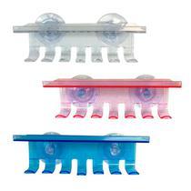 3 Kit Porta Escova E Pasta De Dente Para Banheiro Suporte - Ns