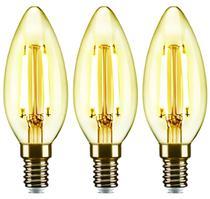 3 Lâmpadas Led Vela Filamento C35 E14 2w 2200k Elgin -