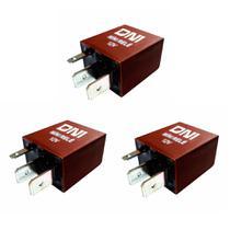 3 Mini Relés Auxiliares - 12V - 30A - DNI 0123 -