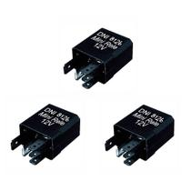 3 Mini Relés Auxiliares Uso Geral 12V 30/20A - DNI 8126 -