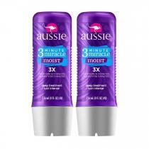 3 Minute Miracle Moist Aussie - Kit Máscara De Hidratação Profunda 2x 236ml