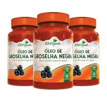 3 Óleo De Groselha Negra 60 Cps Cada 1000 Mg Katigua - Katiguá