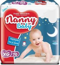 3 Pct Fralda Descartável Nanny Baby XG Com 70 Unidades Atacado -