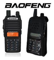 3 Rádios HT Baofeng Uv82 Portátil Profissional 10w Com Capa De Couro -