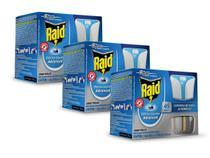 3 Repelente Raid Eletrico Liquido Advanced 45 Noites - Johnson
