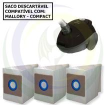 3 Saco Descartável para Aspirador de Pó Mallory Compact -