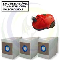 3 Saco Descartável para Aspirador de Pó Mallory Golf -