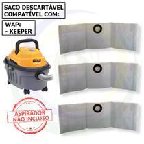 3 Saco Descartável para Aspirador de Pó Wap Keeper -