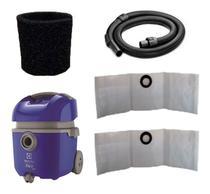 3 Sacos + Mangueira + Filtro Permanente Para Aspirador Electrolux Flex 1400 flsc -