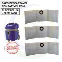 3 Sacos P/ Aspirador De Pó Electrolux Flex 1400 Flsc - Porto-pel