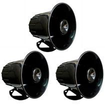 3 Sirenes Eletrônicas - 12V - 1,25A/15W - DNI 3300 -