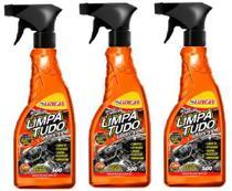 3 Super Limpador Limpa Tudo Luxcar 500 Ml -