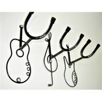 3 Suporte Parede Violão Guitarra Baixo Ou Chão Jm. - suportejm