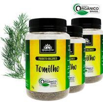 3 Tomilhos PURO desidrat frasco 70 g  Orgânico e Certificado - Kampo De Ervas