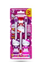 3 Unidades Escova Dental Infantil Hello Kitty - Sanrio -