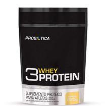 3 Whey Protein Refil - 825gr - Baunilha - Probiótica -