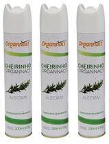 3 x cheirinho 300ml organnact alecrim 300 ml aromatizador -