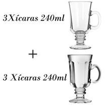 3 Xícaras de café 240ml + 3 xícaras cappuccino country 240ml - Libbey