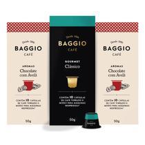 30 Cápsulas Cafe Gourmet Baggio Cafeteira Expresso Nespresso -